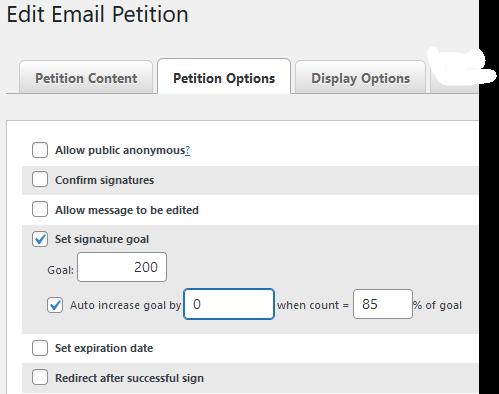 image showing plugin settings